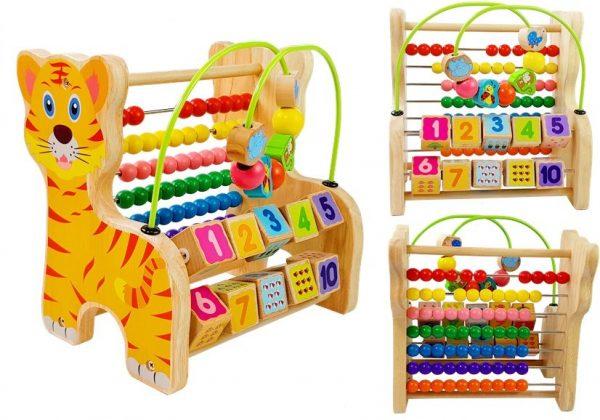 Drveni Abacus Tigar