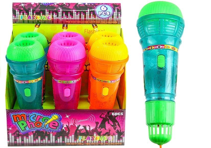 Dječji mikrofon sa svjetlosnim efektima 25 cm