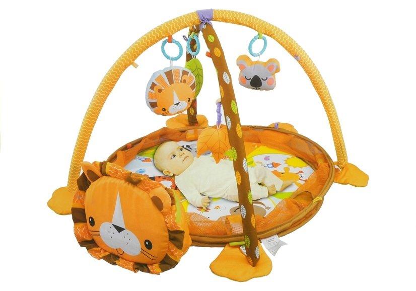 Prostirka u obliku lava + 4 viseće igračke + 30 šarenih loptica